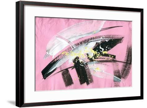 Abstract Painting Background with Expressive Brush Strokes-run4it-Framed Art Print