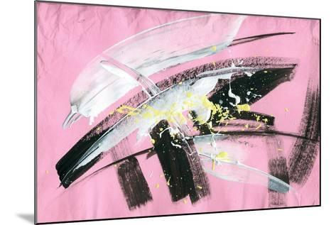 Abstract Painting Background with Expressive Brush Strokes-run4it-Mounted Art Print