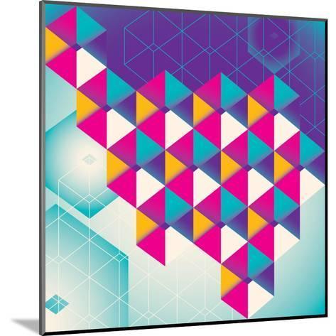 Colorful Geometric Abstraction. Vector Illustration.-Radoman Durkovic-Mounted Art Print