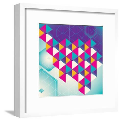 Colorful Geometric Abstraction. Vector Illustration.-Radoman Durkovic-Framed Art Print