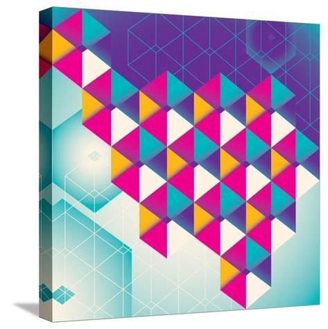Colorful Geometric Abstraction. Vector Illustration.-Radoman Durkovic-Stretched Canvas Print