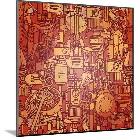 Steampunk Seamless Vector Pattern-Gorbash Varvara-Mounted Art Print