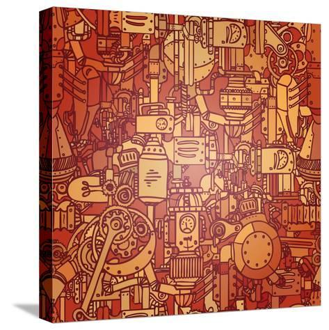 Steampunk Seamless Vector Pattern-Gorbash Varvara-Stretched Canvas Print