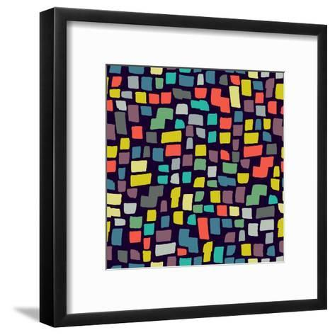 Seamless Abstract Color Pattern. Vector Illustration-Magnia-Framed Art Print