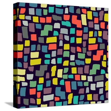 Seamless Abstract Color Pattern. Vector Illustration-Magnia-Stretched Canvas Print