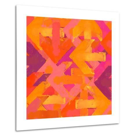 Artistic Grunge Design Arrows Background in a Warm Colors-Lava 4 images-Metal Print