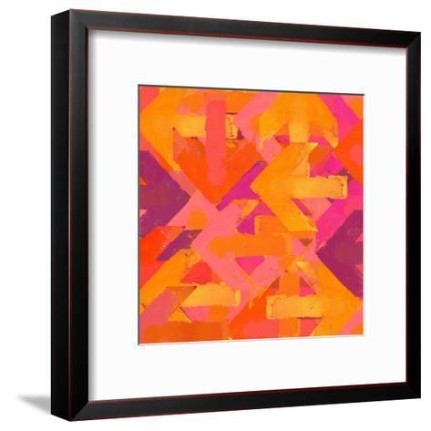 Artistic Grunge Design Arrows Background in a Warm Colors-Lava 4 images-Framed Art Print