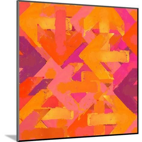 Artistic Grunge Design Arrows Background in a Warm Colors-Lava 4 images-Mounted Art Print