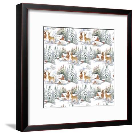 Winter Landscape with Deers-KostanPROFF-Framed Art Print
