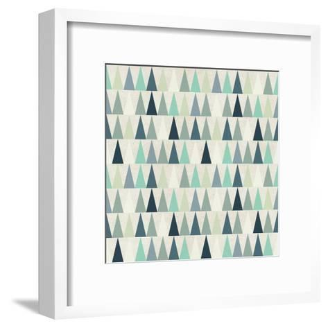 Seamless Geometric Pattern on Paper Texture. Winter/Fall Forest Background- Irtsya-Framed Art Print