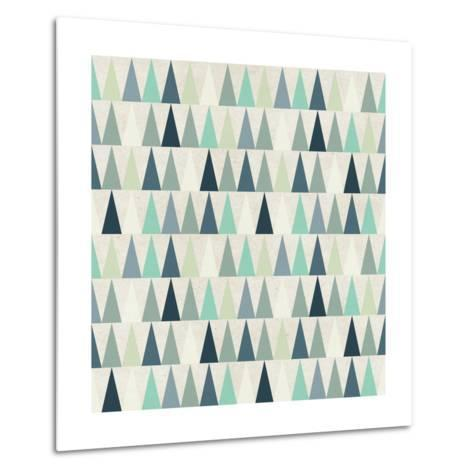 Seamless Geometric Pattern on Paper Texture. Winter/Fall Forest Background- Irtsya-Metal Print