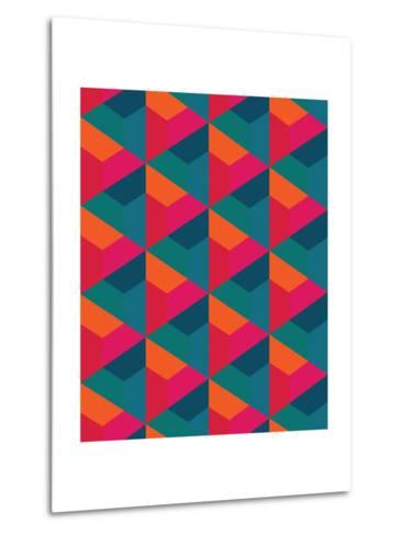 Vector Modern Seamless Colorful Geometry Pattern, Color Abstract Geometric Background, Pillow Multi- Sunspire-Metal Print