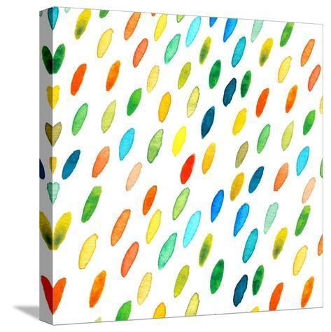Watercolor Drops Pattern.-Maria Sem-Stretched Canvas Print