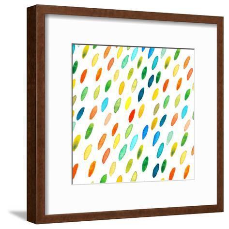 Watercolor Drops Pattern.-Maria Sem-Framed Art Print