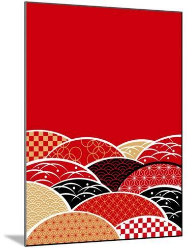A Japanese Style Background of Japan- ririe-Mounted Art Print