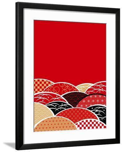A Japanese Style Background of Japan- ririe-Framed Art Print