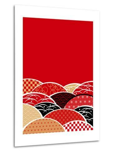 A Japanese Style Background of Japan- ririe-Metal Print