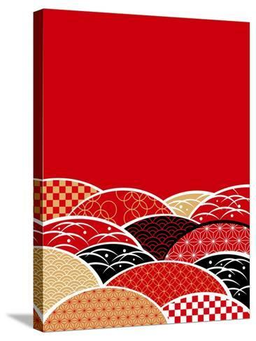 A Japanese Style Background of Japan- ririe-Stretched Canvas Print
