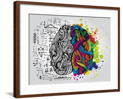 Creative Concept of the Human Brain, Vector Illustration-Lisa Alisa-Framed Art Print