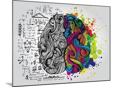 Creative Concept of the Human Brain, Vector Illustration-Lisa Alisa-Mounted Art Print