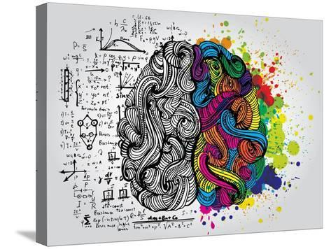 Creative Concept of the Human Brain, Vector Illustration-Lisa Alisa-Stretched Canvas Print