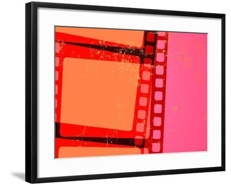 Vector Illustration of Retro Grunge Abstract Cinema Background-Pixel Embargo-Framed Art Print