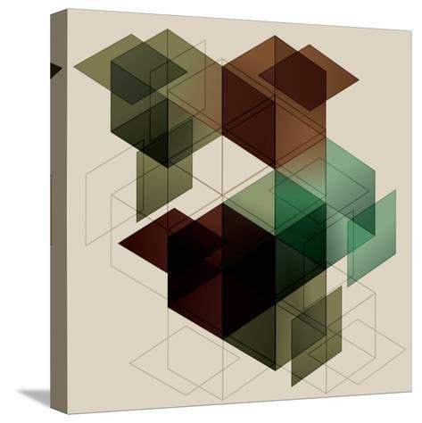 Geometric Cube Background. Eps10 with Transparency- Transfuchsian-Stretched Canvas Print