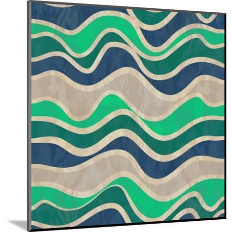 Seamless Vector Waves Texture-ivgroznii-Mounted Art Print