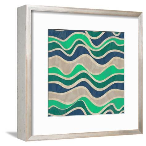 Seamless Vector Waves Texture-ivgroznii-Framed Art Print