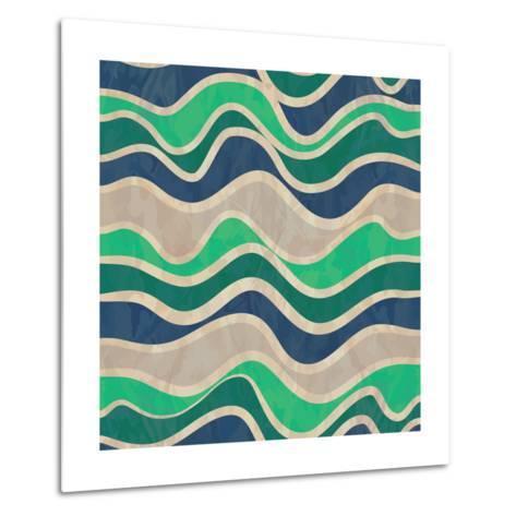 Seamless Vector Waves Texture-ivgroznii-Metal Print