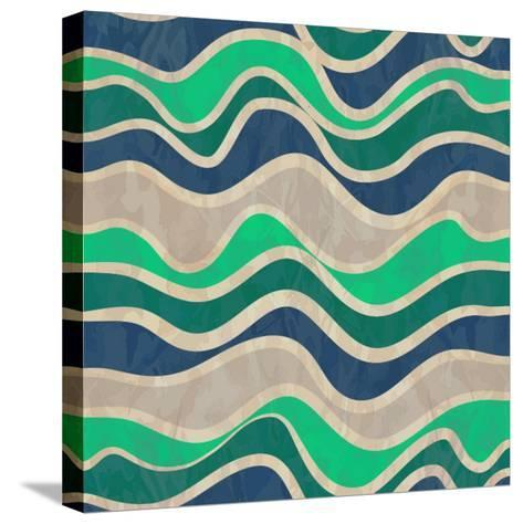 Seamless Vector Waves Texture-ivgroznii-Stretched Canvas Print