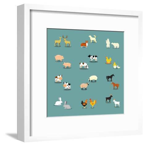 Farm Animals and Pets-K N-Framed Art Print