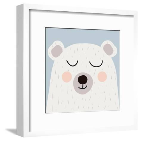 Illustration of Cute Bear-Guaxinim-Framed Art Print