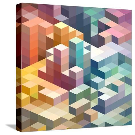 Abstract Background of Geometric Shapes-theromb-Stretched Canvas Print