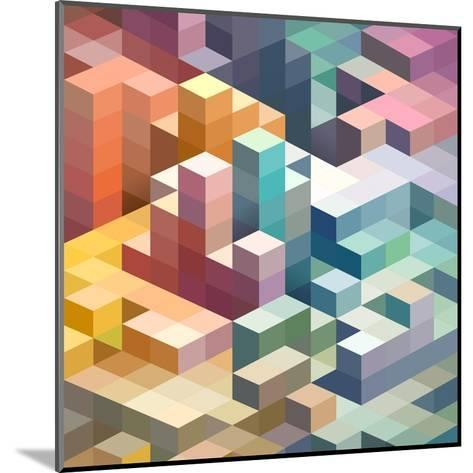 Abstract Background of Geometric Shapes-theromb-Mounted Art Print