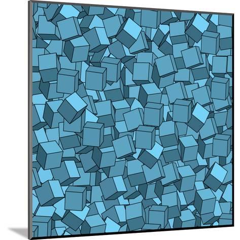 Seamless Vector Abstract Texture- Chet-Mounted Art Print
