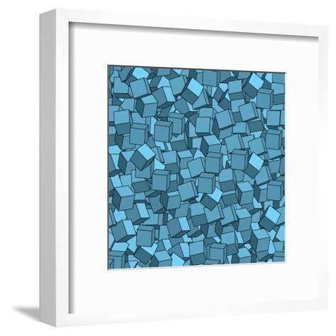 Seamless Vector Abstract Texture- Chet-Framed Art Print