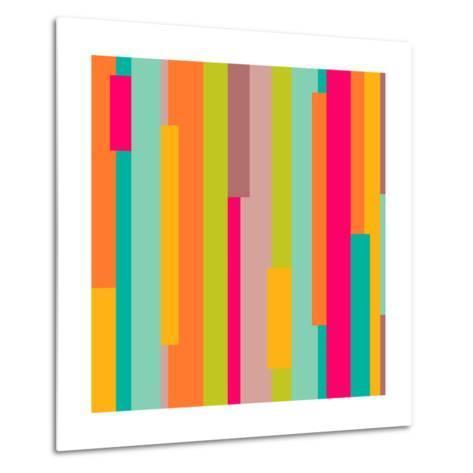 Abstract Geometric Pattern-Victoria Kalinina-Metal Print