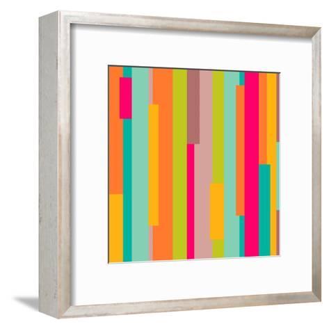 Abstract Geometric Pattern-Victoria Kalinina-Framed Art Print