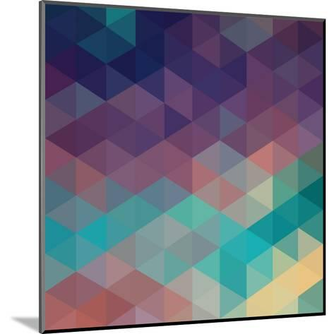 Colorful Geometric Background with Triangles. Vector EPS 10.-Olha Kostiuk-Mounted Art Print