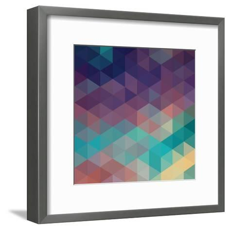 Colorful Geometric Background with Triangles. Vector EPS 10.-Olha Kostiuk-Framed Art Print