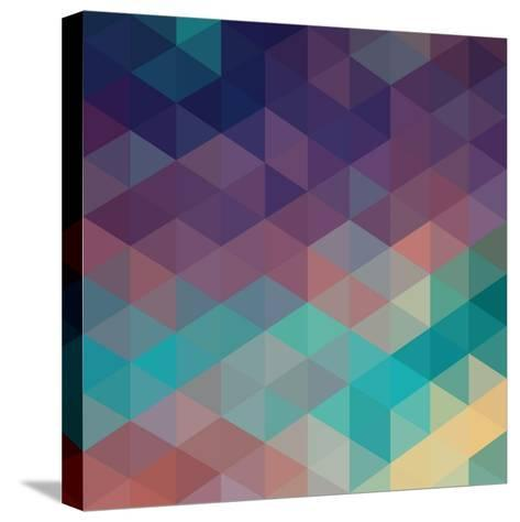 Colorful Geometric Background with Triangles. Vector EPS 10.-Olha Kostiuk-Stretched Canvas Print