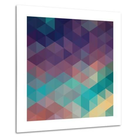 Colorful Geometric Background with Triangles. Vector EPS 10.-Olha Kostiuk-Metal Print