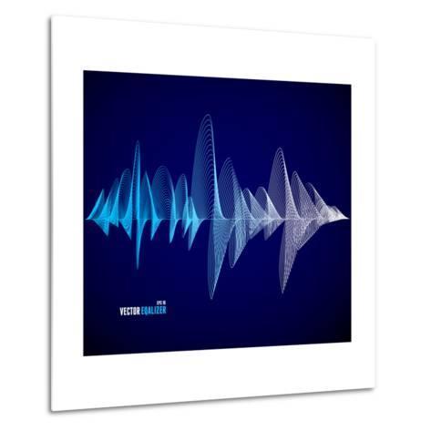 Vector Equalizer, Colorful Musical Bar. Dark Background. Wave Concept- M Stasy-Metal Print