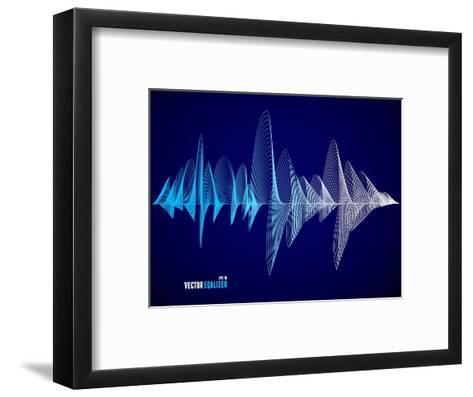 Vector Equalizer, Colorful Musical Bar. Dark Background. Wave Concept- M Stasy-Framed Art Print