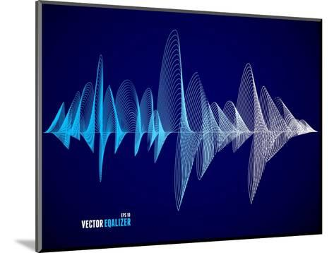 Vector Equalizer, Colorful Musical Bar. Dark Background. Wave Concept- M Stasy-Mounted Art Print