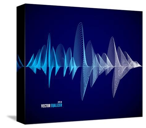 Vector Equalizer, Colorful Musical Bar. Dark Background. Wave Concept- M Stasy-Stretched Canvas Print