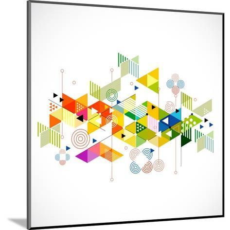 Abstract Colorful and Creative Geometric with a Variety of Geometric Pattern Background, Vector Ill- Studiojumpee-Mounted Art Print
