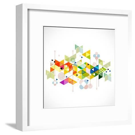 Abstract Colorful and Creative Geometric with a Variety of Geometric Pattern Background, Vector Ill- Studiojumpee-Framed Art Print