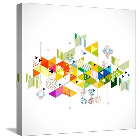 Abstract Colorful and Creative Geometric with a Variety of Geometric Pattern Background, Vector Ill- Studiojumpee-Stretched Canvas Print